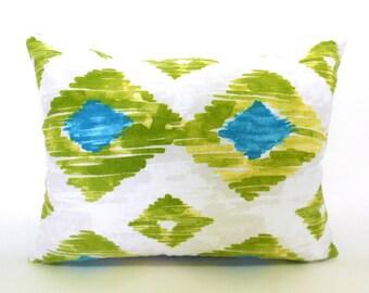 Lumbar Pillow Cover ANY SIZE Decorative Pillow Cover Richloom Kashan Kiwi