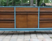 EXAMPLE ONLY - Mid Century Modern Triple Dresser with Natural Tone Drawers