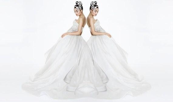 "Irina Shabayeva ""crystal dreams"" organza bridal gown with swarowski crystal beading.."