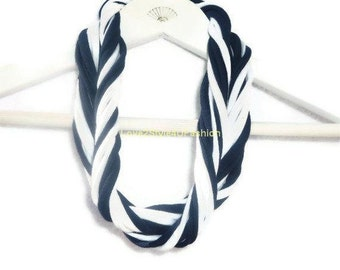 Jewelry For Women, Gifts For Her, Jewelry, Necklaces, Multi Strand Necklaces, Gift Idea For Her, Handmade, Blue & White Fashion Accessories