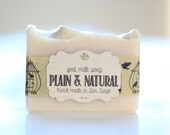 Plain & Natural Goats Milk Soap - Unscented and Uncolored