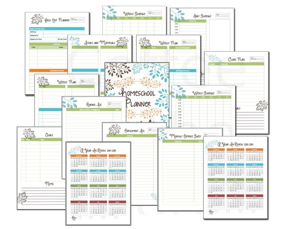 Homeschool Planner Classroom Organizer Lesson By