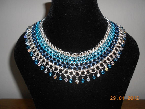 HALF ORIGINAL PRICE! Egyptian Style Ice Collar. Special Chainmaille necklace made for competition