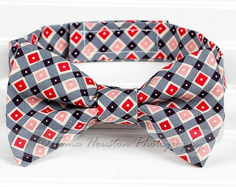 Boy's Bow Tie, Newborn, Baby, Child- Red, Pink, Black, Geometric (2-3 Business Day Processing)