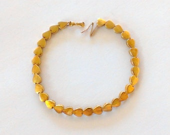 Vintage 14k Gold Heart Bracelet YG