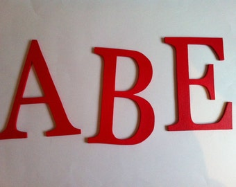 Individual wooden letters custom 0.5