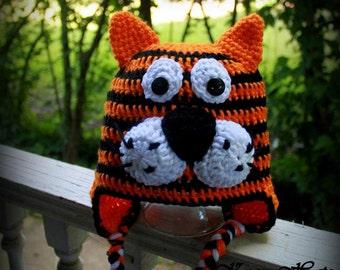 Crochet Tiger hat.