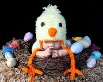 Crochet Chicken hat.Made to order.