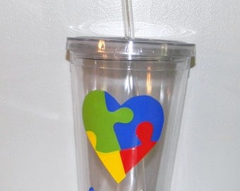 Autism Awareness Gift Teacher tumbler 16oz BPA free