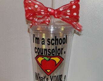 School Counselor Gift - Personalized Counselor Gift - Counselor Cups - Gifts for School Counselor - Counselor Appreciation - Counselors