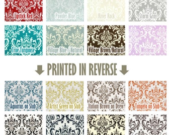 Custom Color Traditions Osborne Damask Curtains - Grommet - 84 96 108 or 120 Long by 25 or 50 Wide - Optional Blackout or Cotton Lining