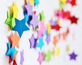 Star garland - Bright Colors Decor - Rainbow Birthday Party