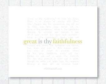 Great Is Thy Faithfulness Hymn Print
