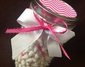 """Baby Shower Game """"Guess the Number of Baby Q-tips"""" .. Pink Chevron .. Baby Girl"""