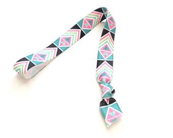 1 Electric Aztec Print Handmade Elastic Headband