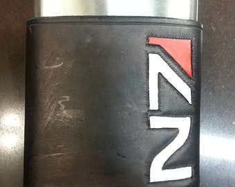 N7 / Mass Effect 8oz Hip Flask Holder with Flask