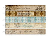 ETSY SHOP BANNERS Vintage 2 Etsy Shop Banner and 2 Etsy Shop Avatars