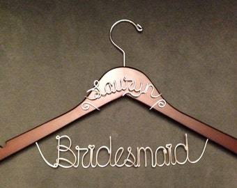 BUY 2 Get 1 FREE -- Bridesmaid Hanger WITH Name