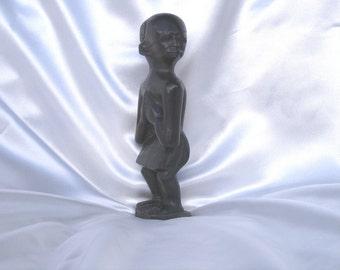 African Swaziland Vintage Ebony Wood Sculpture