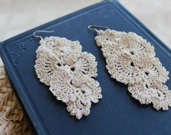 PDF Pattern - Crochet Lace Dangle Earrings