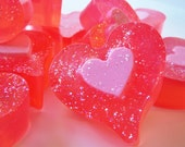 "Glycerin Soap ""Chocolate Strawberry Soap"" Valentines Day, Home, Bath, Favors, Wedding, Bridal Shower, Gifts, Birthday,  OFG team,"