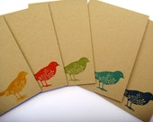 Greeting cards set small gift idea for her ready to ship blank notecards and envelopes pretty birds tweet stocking filler gift for coworker