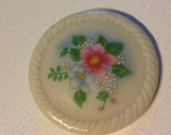 Vintage Avon Pin Round Floral Design