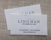 CUSTOM DESIGNED LETTERPRESS Business Cards