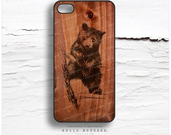 iPhone 7 Case Wood Baby Bear iPhone 7 Plus iPhone 6s Case iPhone SE Case iPhone 6 Case iPhone 6s Plus iPhone iPhone 5S Case Galaxy S6 T154