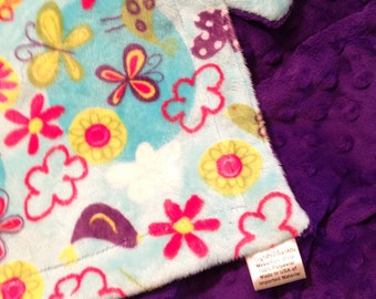 Purple Minky Adult Blanket, Minky Throw Blanket , Adult Minky Blanket, Adult Couch Throw   Adult 50 x 60