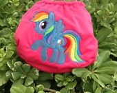 One Size Rainbow Pony Cloth Diaper