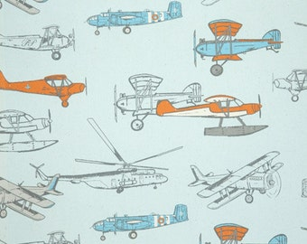 Pillows Decorative Throw Pillow Cover Accent  Pillow Covers Pick Your Size and Fabric  Airplanes Throw Pillow Home Decor Fabric front & back