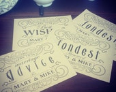Printable Guest Advice Cards