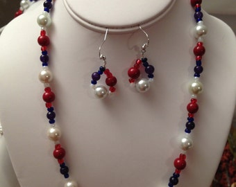 Patriotic Necklace Set