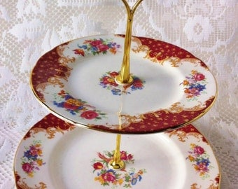 Two Tier Cake Stand, Paragon, Rockingham