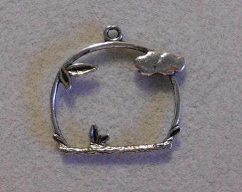 Silver Bird Perch Pendant