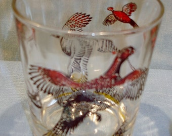 Pheasant Decal Old Fashioned Glass