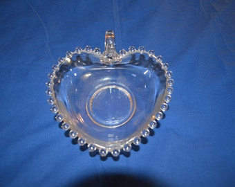 ON SALE Candlewick Heartshaped Dish