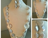 White and Silver Necklace Set