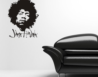 Jimi Hendrix vinyl wall decal sticker