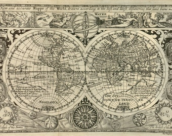 World atlas, World map poster, Maps, 128