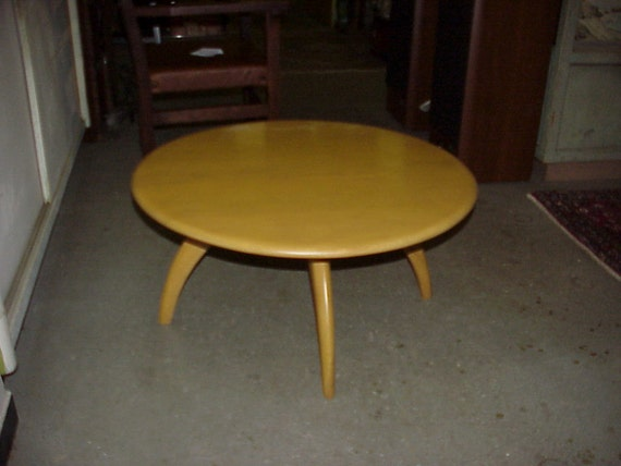Heywood Wakefield Restored Coffee Table Lazy Susan Rotating