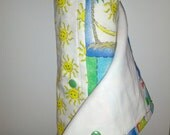 Eco-Friendly Cloth Un-paper Towel Roll, Summer time Sunshine - 8 towels