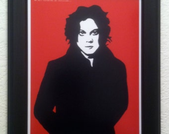 Jack White of the White Stripes Art Print