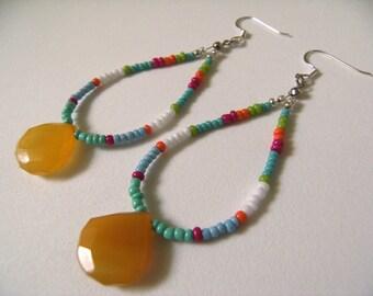 Handmade Artisan Gemstone Earrings