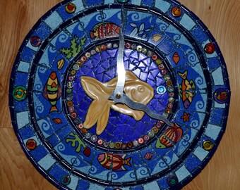 Under the Sea Mosaic Clock