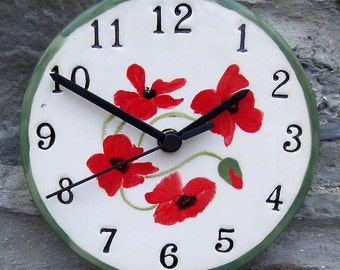 Hand made ceramic clock