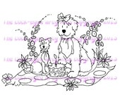 A digital stamp/image instant download.... The picnic!