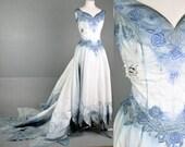 Tim Burton Corpse Bride Wedding Zombie Dress gown Costume Halloween Custom made LAST chance