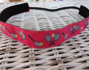 Pink Tennis Headband - Womens Sports Headband